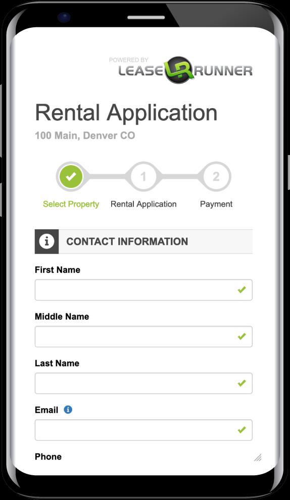 LeaseRunner Rental Application